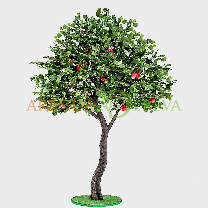 """Аренда искусственного дерева """"Яблоня с яблоками"""" 3м."""